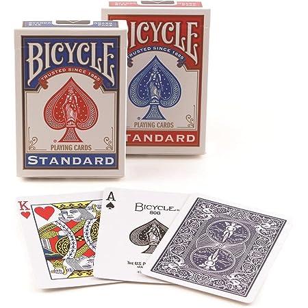 Bicycle Poker - Baraja de cartas, tamaño estándar, colores surtidos