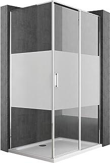 Mai /& Mai cabine de douche en angle 120x90cm avec deux portes paroi de douche en verre transparent de 8mm easy clean R30K
