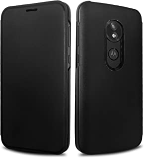 Moto E5 Play Flip Case, Lenovo Original Flip Cover with Card Slot Shockproof Edge Protective Slim Folio Flip Case for Moto E5 Play