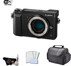 Panasonic Lumix DMC-GX85 Mirrorless Micro Four Thirds Digital Camera 4k 16MP (Body Only, Black) Bundle with Carrying Case