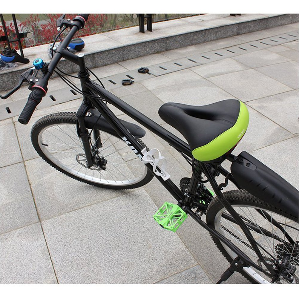 Sillín de Bicicleta Ancho Cómodo Almohadilla de Espuma de Memoria ...