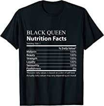 Black Queen nutrition facts T Shirt funny Tee
