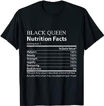 Best black queen nutrition facts shirt Reviews