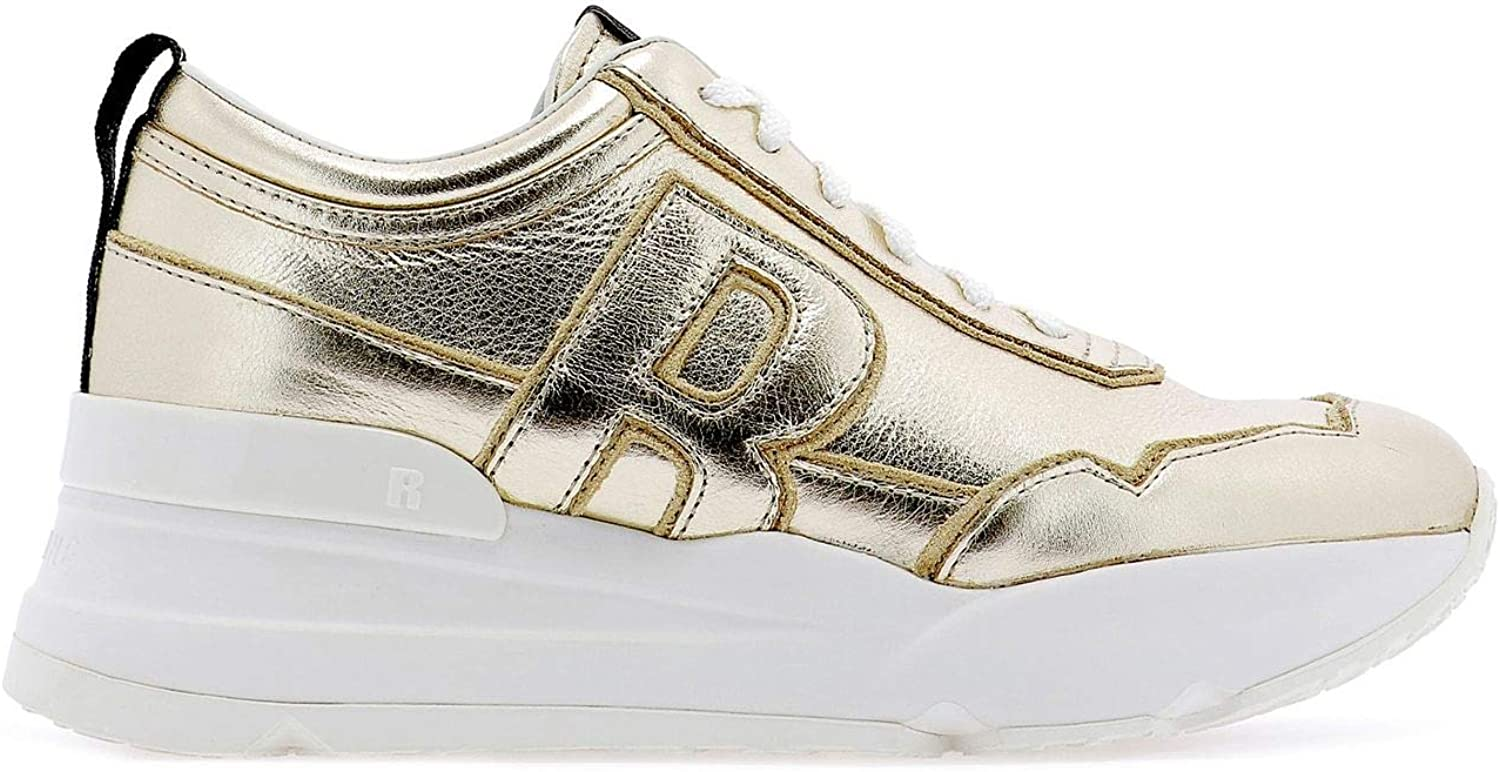 Agile By By By Rucoline Ruco Line Damen 404120784 Gold Leder Turnschuhe 7ff