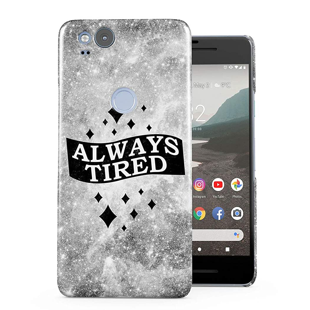 Always Tired Stars Cosmos Plastic Phone Snap On Back Case Cover Shell for Google Pixel 2