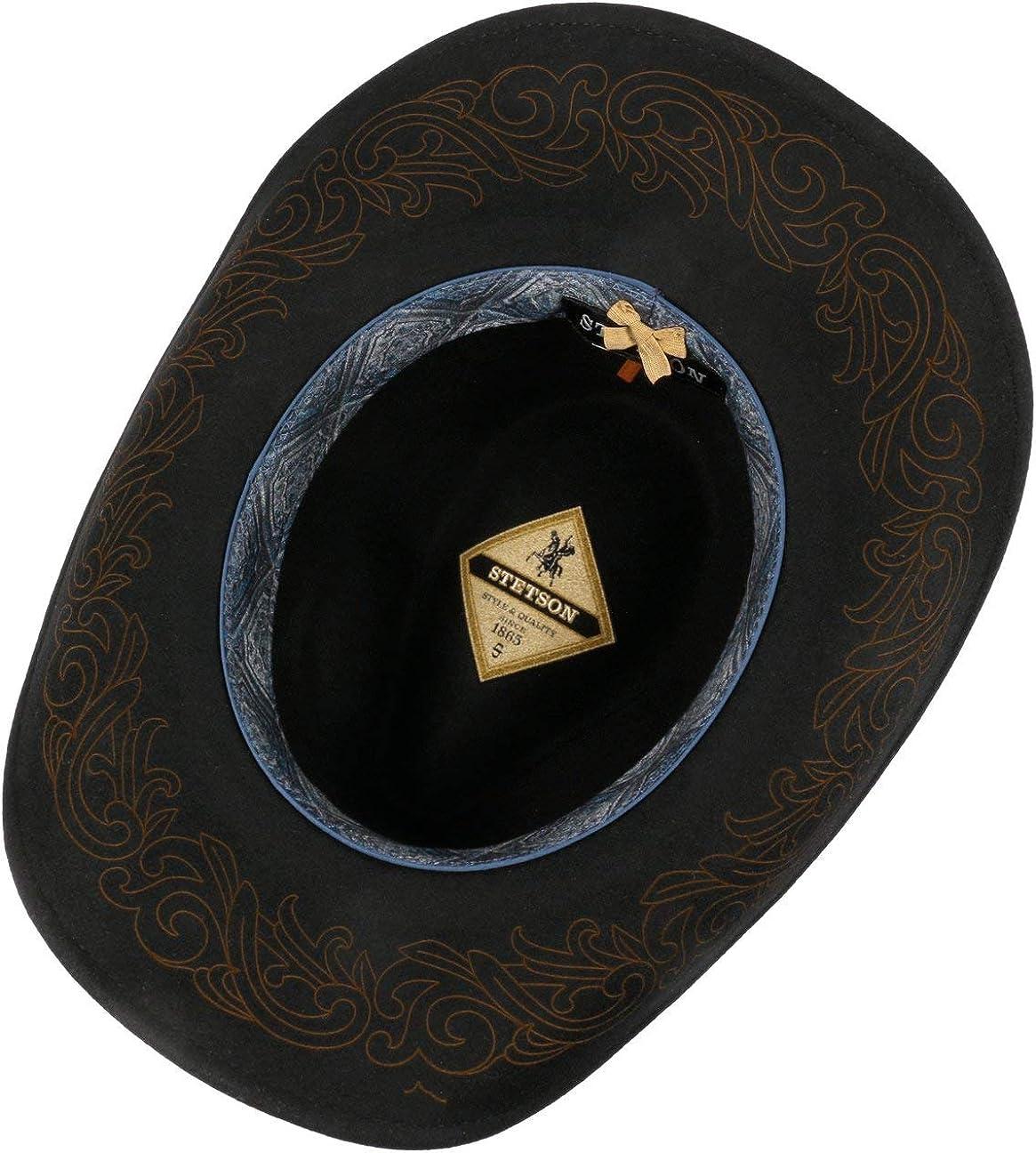 Lana Vaquero con Forro Stetson Sombrero de Fieltro Tincaro Western Hombre Banda Piel oto/ño//Invierno