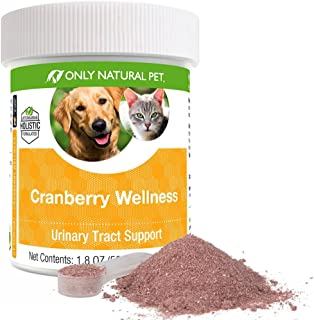 Only Natural Pet Cranberry Wellness Antioxidant Powder for Dogs and Cats - Nutritional Berry Powder Supplement for Urinary Tract Health with Vitamin C