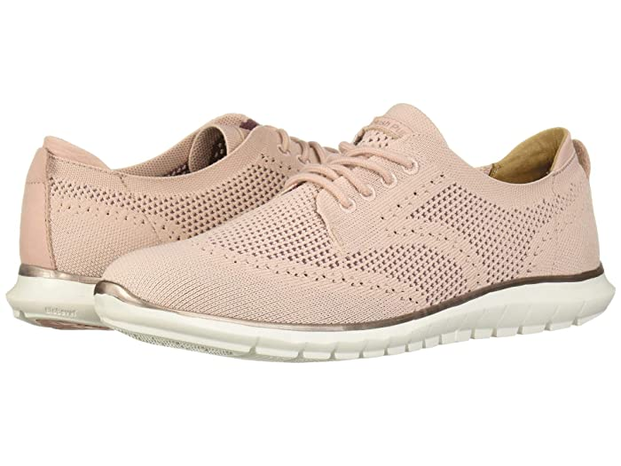 Hush Puppies  Tricia Wing Tip Knit (Pale Rose Knit) Womens Shoes
