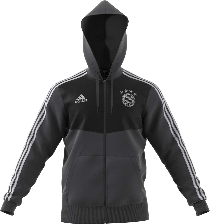 Adidas 20182019 Bayern Munich 3S Hooded Zip (Carbon)