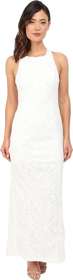 Halter Neck Lace Gown CD6B1V6E
