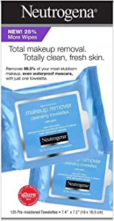 Neutrogena Makeup Remover Cleansing Towelettes, Refill Pack, 25 Count (Pack of 5)+ 1 travel size (7ct.)