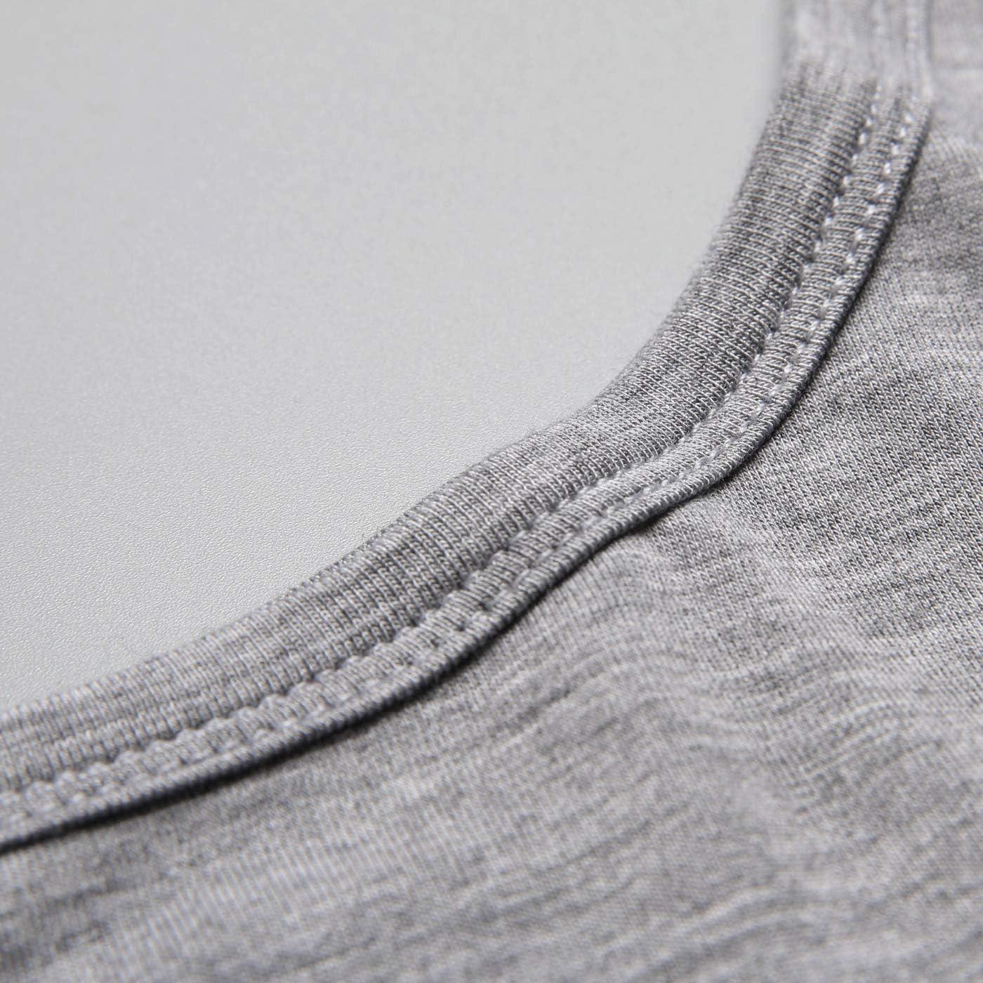 Mcilia Damen Ultradünnes Thermo-Unterwäsche Oberteil & Unterteil-Set aus Modal mit Rundhalsausschnitt Grau