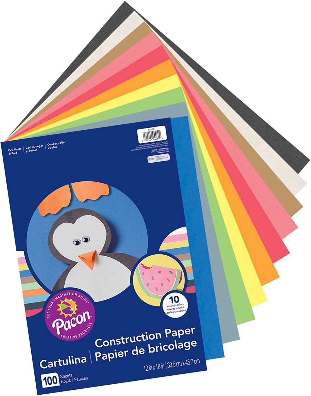 barato y de moda Economy Construction Paper, 12 x 18 , 100 100 100 PK, Assorted, Sold as 1 Package  hasta un 70% de descuento