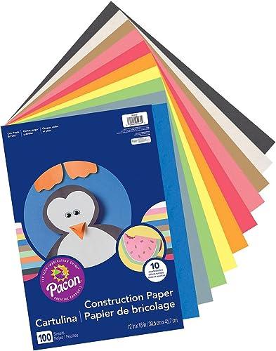 descuento de ventas Economy Construction Paper, Paper, Paper, 12 x 18 , 100 PK, Assorted, Sold as 1 Package  precios mas baratos