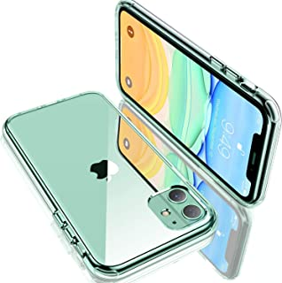 Humixx Shockproof Clear iPhone 11 Case [6 FT Military Grade Drop Protection] [11X Anti-Yellowing] Diamond Crystal Transparent Protective Hardcase Cover with Soft Bumper for iPhone 11 6.1 Inch-HD