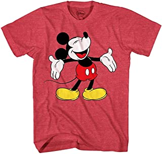Disney Mickey Mouse Laughing Disneyland World Funny Humor Pun Mens Adult Graphic Tee T-Shirt