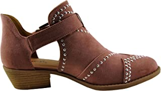 Sochi 123 Womens Studded Buckle Ankle Bootie