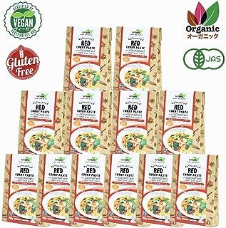 チブギス オーガニック レッドカレー ペースト(スイートバジル付き)【お得に100g x 12個セット】有機JAS認定/グルテンフリー/ヴィーガン CIVGIS Organic Red Curry Paste [ Organic Glutenfree Vegan ] by CIVGIS Thailand