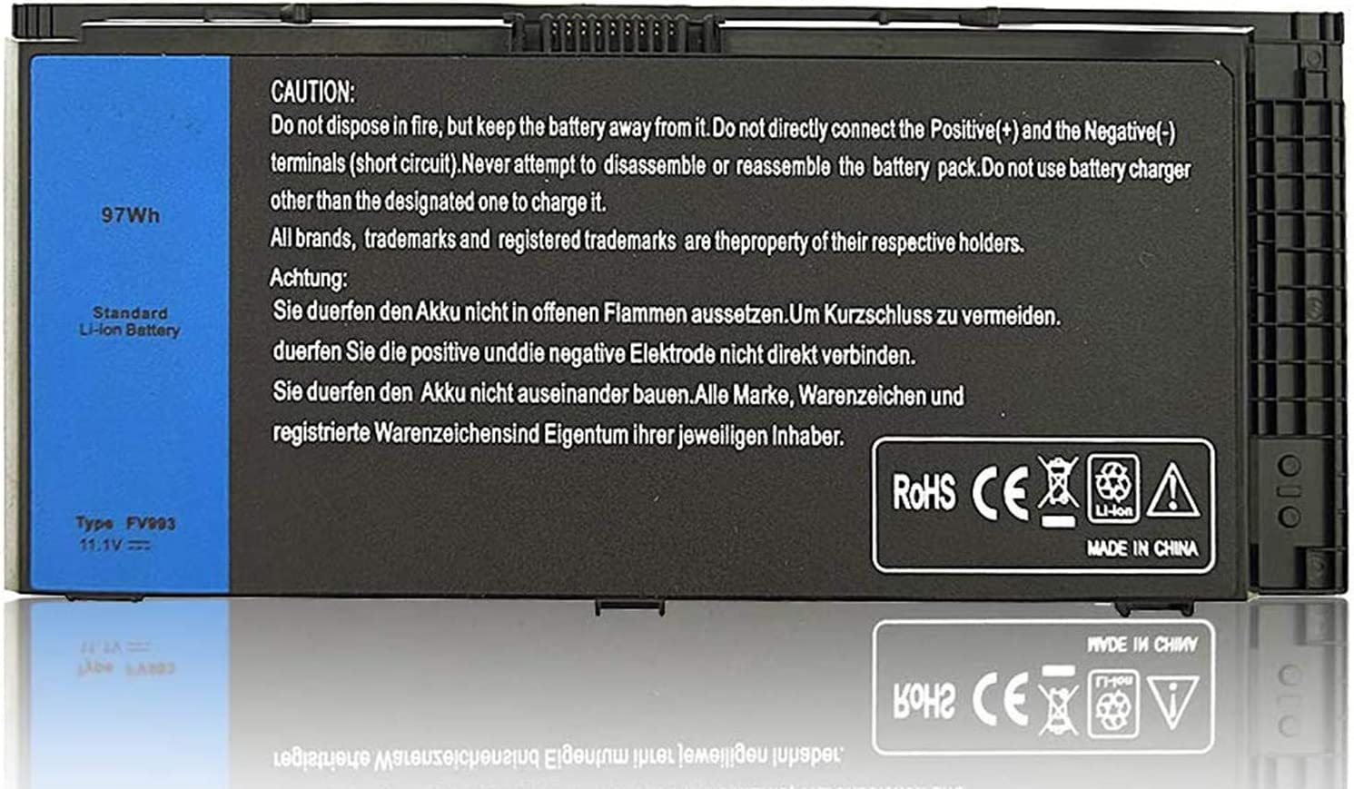 New M4800 M6800 FV993 Laptop Battery Compatible with Dell Precision M4600 M4700 M6700 M6600 Series,Fits FJJ4W KJ321 PG6RC V7M28 R7PND Laptop 11.1V 97Wh