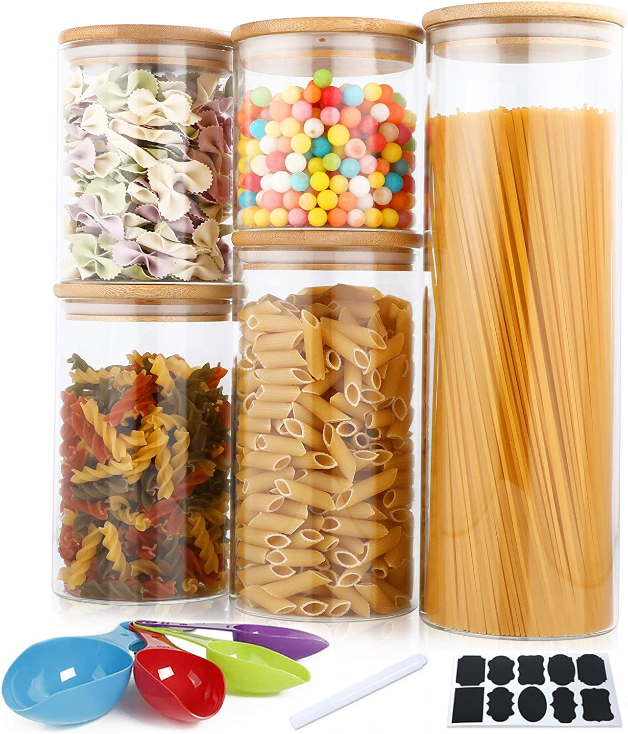 Glass Food Super special price Storage Jars Containers o Canister Set Airtight Complete Free Shipping