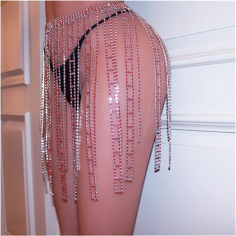 ZHU-CL Bikini Body Chain Statement Chai Rhinestone Red Sexy Ranking TOP10 Indefinitely