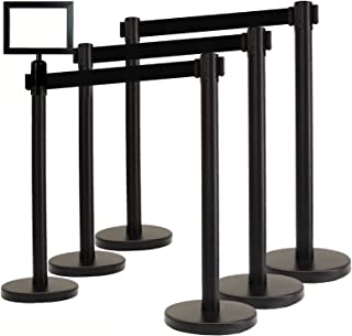 VIP Crowd Control Retractable Belt Queue Safety Stanchion Barrier Set, 36