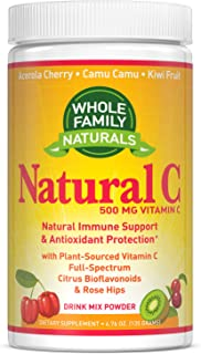 Natural Vitamin C Powder with Acerola Cherry 500mg
