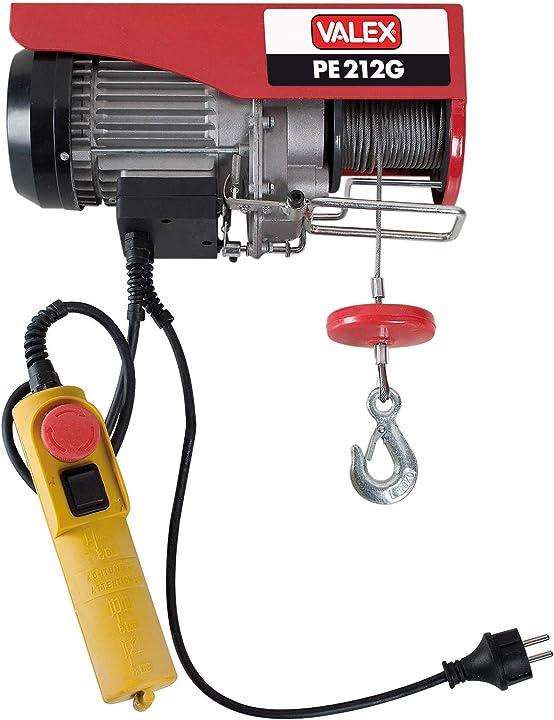 Paranco elettrico valex 1655155 pe212g rosso 1655155