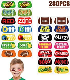 Football Game Face Temporary Tattoos Stickers - Party Favors Supplies Scholl Reward Prizes 280Ct