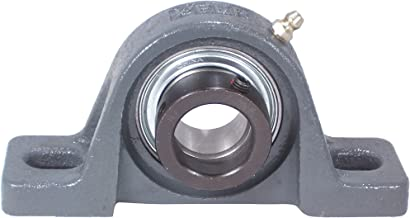 Peer Bearing FHP205-16G Pillow Block, Standard Shaft Height, Narrow Inner Ring, Relubricable, Eccentric Locking Collar, Single Lip Seal, Cast Iron Housing, 1