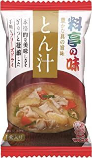 マルコメ フリーズドライ 料亭の味 とん汁 即席味噌汁 1食×10個