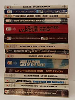 Set of 15 Louis L'Amour Paperbacks - Killoe; To Tame A Land; The Quick and the Dead; Son of A Wanted Man; Haunted Mesa; How the West Was Won; Bowdrie's Law; Showdown At Yellow Butte; Kilrone; Last of the Breed; Law of the Desert Born; River's West...