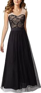 HOMEYEE Women's Elegant Sleeveless Mesh Maxi Formal Dress A039