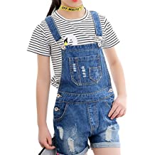 cffff8b1ec75 Luodemiss Big Girl  39 s Denim Jumpsuit Boyfriend Jeans Denim Romper  Shortalls