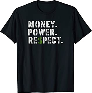 Gangster Money Power Respect Mafia Godfather T-Shirt