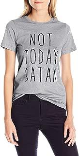 Women's Not Today Satan Letter Print Short Sleeve O-Neck T Shirt