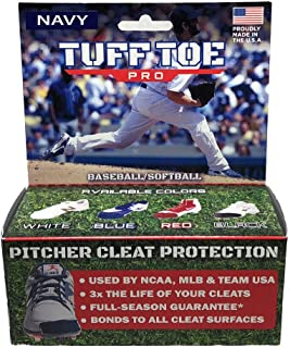 Tuff Toe Pro Baseball Pitchers and Catchers Cleat Guards | Pitcher Shoe Drag Protector (Single, NAVY)