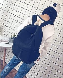 GLJ Student Street Trends Wild Travel Backpack Canvas Backpack Backpack (Color : Black)