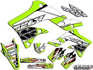 Senge Graphics kit compatible with Kawasaki 2001-2013 KX 85/100, Fly Racing Green Graphics Kit