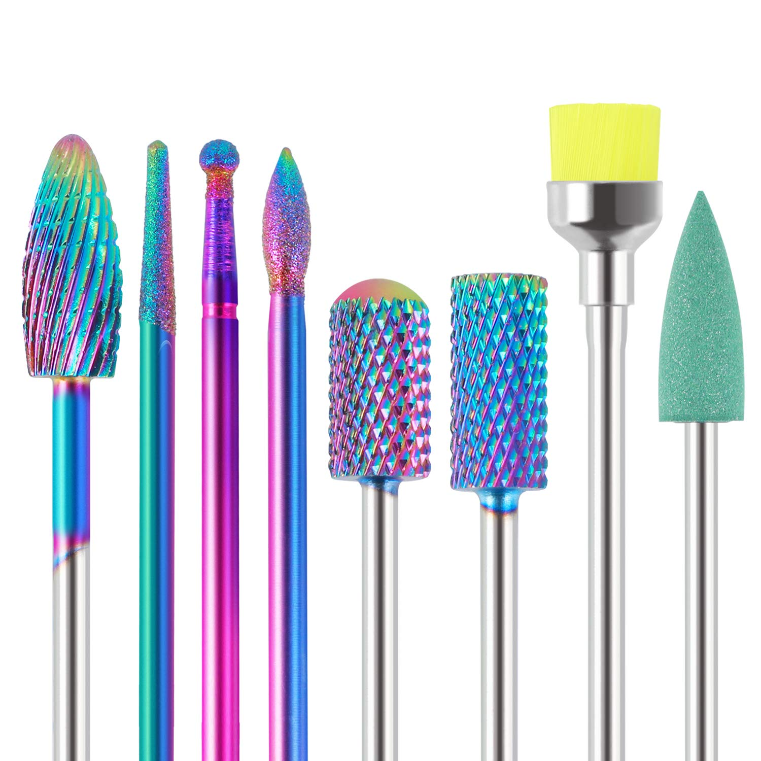 Max 79% OFF MAQUITA 8Pcs Nail Drill Bits Ranking integrated 1st place Set Carbide of Profes Tungsten Made