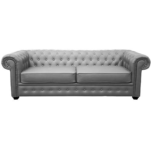 Grey Chesterfield Sofa Amazon Co Uk