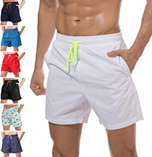 12ffc5e3e7 anqier Mens Swim Trunks Quick Dry Beach Shorts Mesh Lining Board Shorts  Swimwear Bathing Suits with