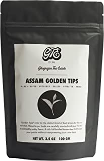 Assam Loose Leaf Black Tea with Golden Tips (50+ Cups) - Premium Second Flush Harvest - Malty, Full Bodied Breakfast Tea - Directly Shipped from our Family-Owned Estate in Assam, India - Gift Pouch