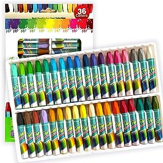 Non-Toxic Oil Pastels، 36 Colors Art Art Crayon Oil Paint Pels Soft Set برای فعالیت های داخلی کودکان ، هنرمندان