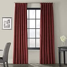Half Price Drapes VPCH-192018-96 Signature Blackout Velvet Curtain, Burgundy, 50 X 96