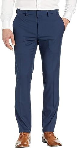 Stretch Shadow Check Slim Fit Dress Pants
