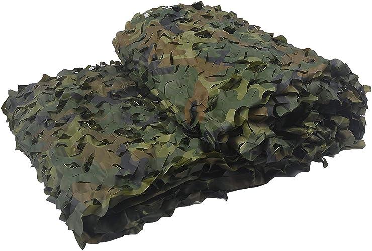 Filet d'ombrage QINGJIU Filet de Camouflage, Tissu Oxford Défense aérienne écran Solaire Baches de bardage Décoration Nette Jungle Cache Tente Camping Ombrage Net (Taille   4x7M)
