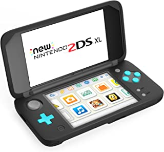 MoKo Silicone Case for Nintendo New 2DS XL, Anti-Slip Protective Cover Skins for Nintendo New 2DS XL/LL (2017) - Black