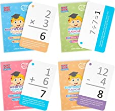Math Mastery Bundle: 715 Self-Checking Flashcards with Word Problems, All Addition, Multiplication, Division Facts 0-12 and All Subtraction Minuends 0-18 by Pint-Size Scholars