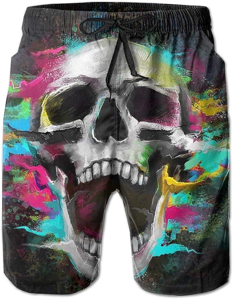 Yt92Pl@00 Popular brand Mens 100% 67% OFF of fixed price Polyester Skull Beachwear Comforta Colorful